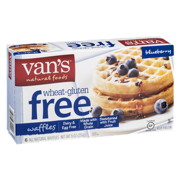 Van's Natural Foods Wheat & Gluten Free Blueberry Waffles - 6 CT