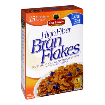 Our Family High Fiber Bran Flakes Cereal