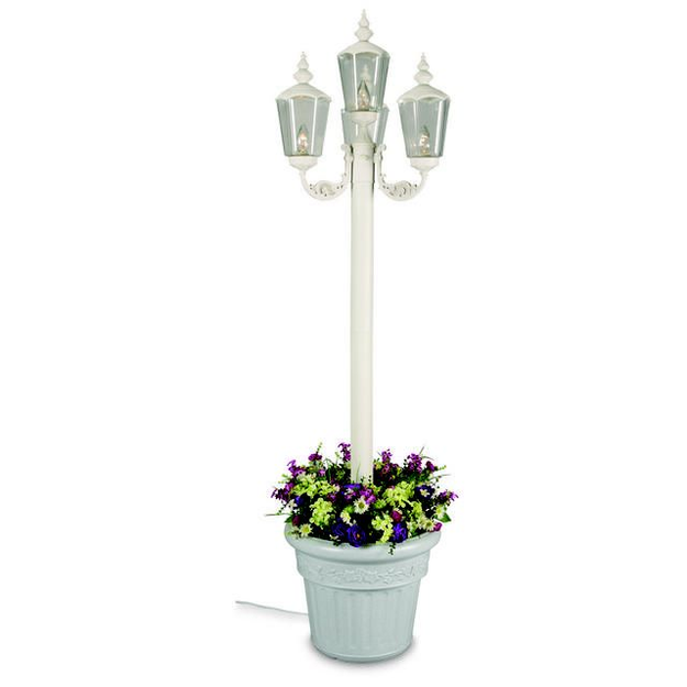 Patio Living Concepts Outdoor Lighting. White Cambridge Park Lantern Planter