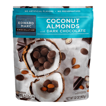 EDWARD MARC CHOCOLATIER® Dark Chocolate Coconut Almonds