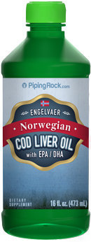 Piping Rock Cod Liver Oil Plain Norwegian 16 fl oz