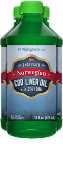Piping Rock Cod Liver Oil Plain Norwegian 3 Bottles x 16 fl oz