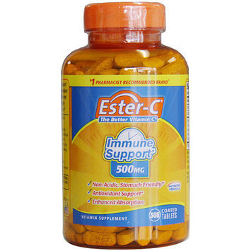 Ester C 500 mg, Better Vitamin C for Immune Support, 300 Coated Tablets, Ester-C Company