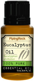 Piping Rock Eucalyptus Oil Essential Oil 1/2 oz 100% Pure Oil Therapeutic Grade