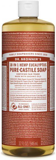Dr. Bronner's 18-in-1 Hemp Eucalyptus Pure - Castile Soap