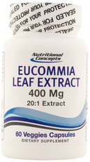 Nutritional Concepts Eucommia Leaf Extract 20:1 60 Veg Capsules