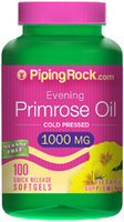 Piping Rock Evening Primrose Oil 1000mg 100 Softgels