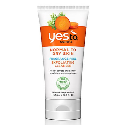 Yes To Carrots Fragrance Free Exfoliating Facial Cleanser