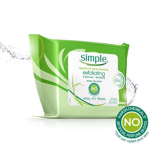 Simple Exfoliating Facial Wipes