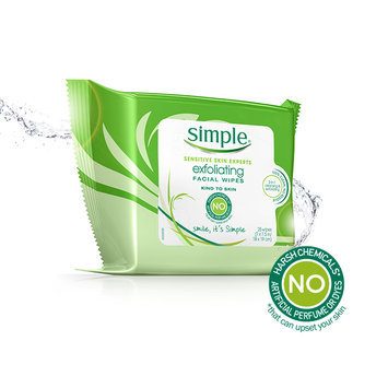 Simple Exfoliating Facial Wipes