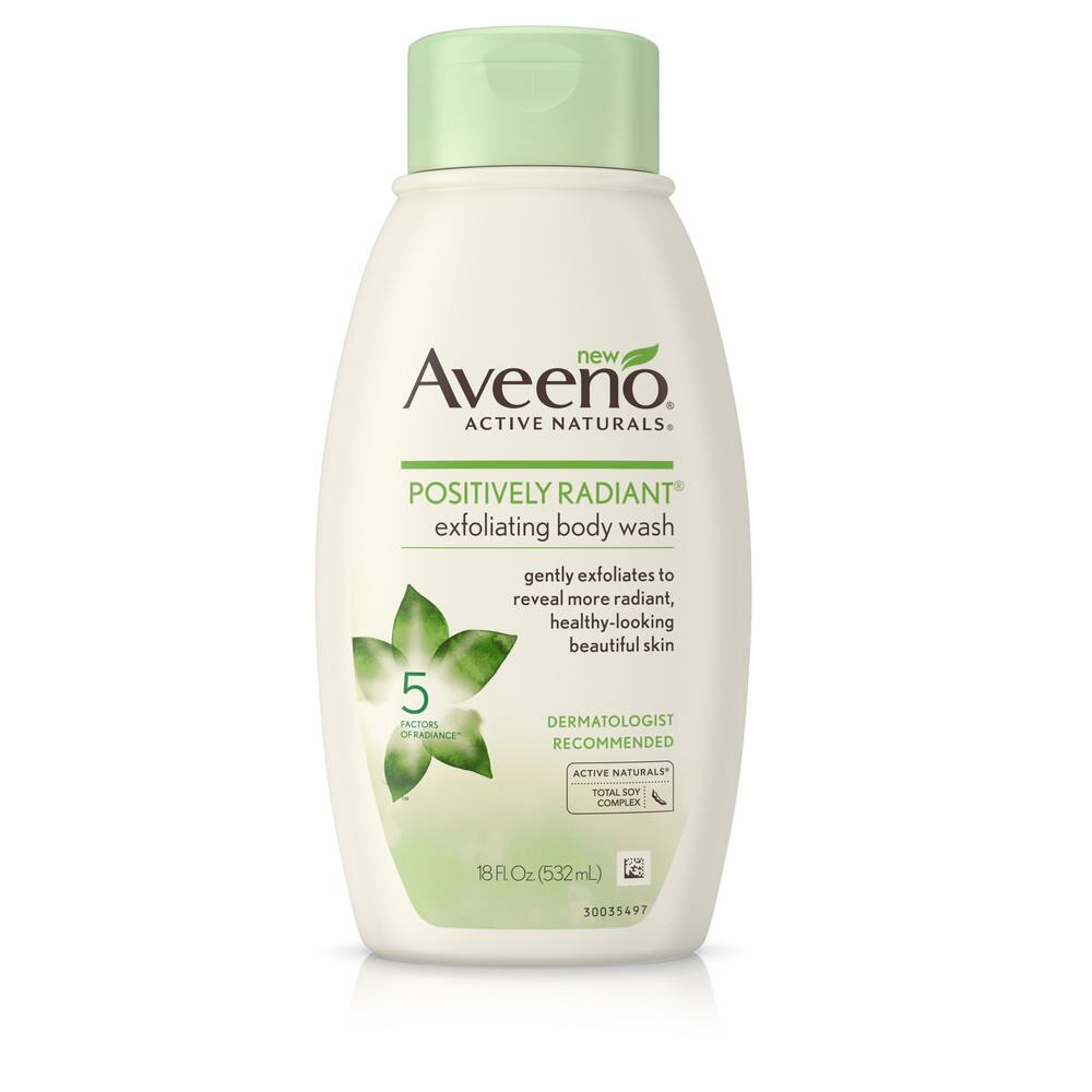 Aveeno® Positively Radiant Exfoliating Body Wash