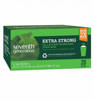 Seventh Generation Extra Strong Tall Kitchen Drawstring Trash Bags