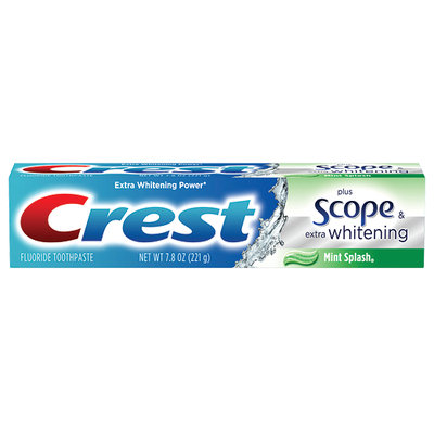 Crest Extra Whitening plus Scope Toothpaste