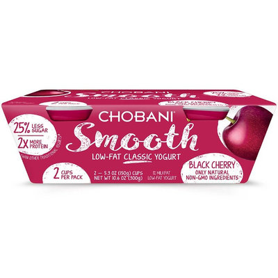 Chobani® Smooth Black Cherry Low-fat Classic Yogurt