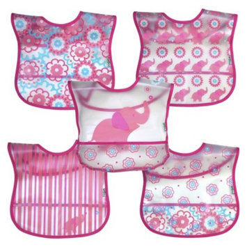 Green Sprouts green sprouts 5 Pack Bib - Elephant