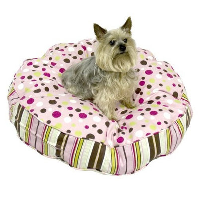 Happy Hounds Scout Deluxe Round Dog Bed, Medium 36-Inch, Maggie/Kelso