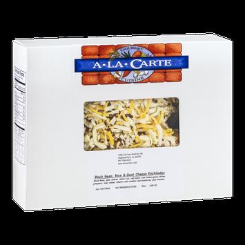 A La Carte Gourmet Cuisine Black Bean, Rice & Goat Cheese Enchiladas