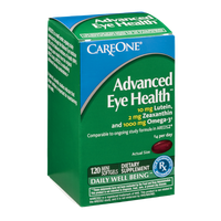 CareOne Advanced Eye Health Dietary Supplement Mini Softgels Daily Well Being - 120 CT