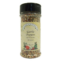 Lizzie's Kitchen Garlic Pepper Seasoning, 4.4 Ounce Plastic Jar