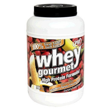 PVL Whey Gourmet High Protein Shake, Strawberry Banana Smoothy, 32 Ounces