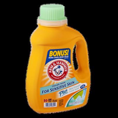 arm u0026 hammer sensitive skin fresh scent liquid laundry detergent 50 loads