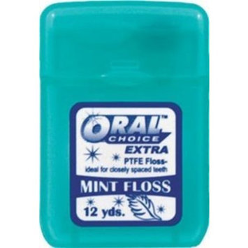Oral Choice Extra PTFE Mint Flavored Dental Floss, 144 pcs