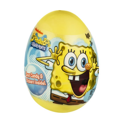 Frankford Nickelodeon SpongeBob SquarePants Plastic Egg Sour Candy & Stickers