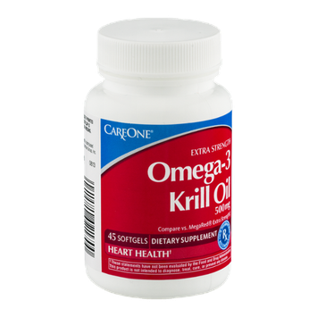 CareOne Extra Strength Omega-3 Krill Oil Softgels - 45 CT