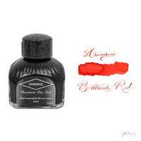 Diamine 80 ml Bottle Fountain Pen Ink, Brilliant Red