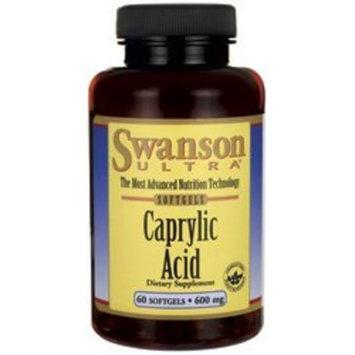 Swanson Ultra Caprylic Acid 600 mg 60 Sgels