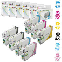 LD Remanufactured Replacements for Epson T098/T099 7 Pack HY Ink Cartridges Includes:2 Black T098120, 1 Cyan T099220, 1 Magenta T099320, 1 Yellow T099420, 1 Light Cyan T099520, 1 L Magenta T099620