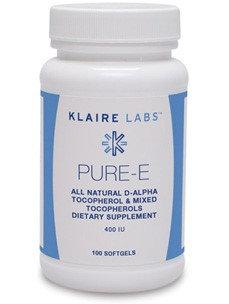 Klaire Labs, Pure E 400 IU 100 Softgels