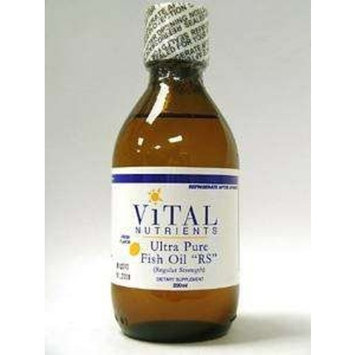 Vital Nutrients Ultra Pure Fish Oil Regular Strength 200 Milliliters