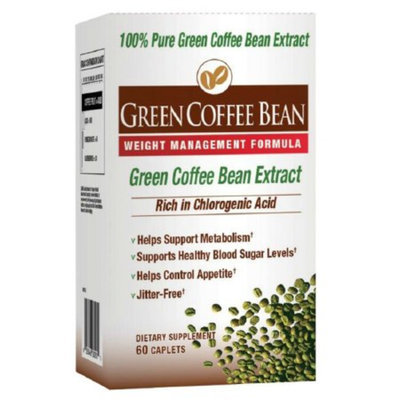 Diet Works Green Coffee Bean Extract Weight Management Formula, Caplets