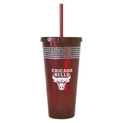 Boelter Brands NBA 2 Pack Chicago Bulls Bling Straw Tumbler - Red (22