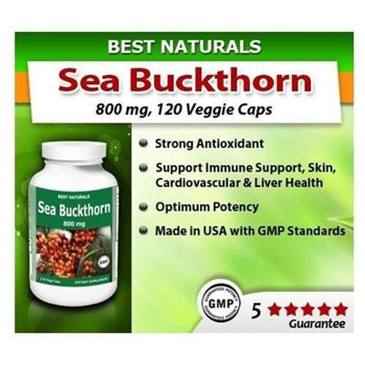 Best Naturals Sea Buckthorn, 800 Mg, 120 Vegi Capsules