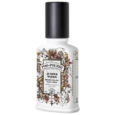 Poo-Pourri Before-You-Go Toilet Spray 4-Ounce Bottle, Juniper Woods Scent [Juniper Woods, 4-Ounce]