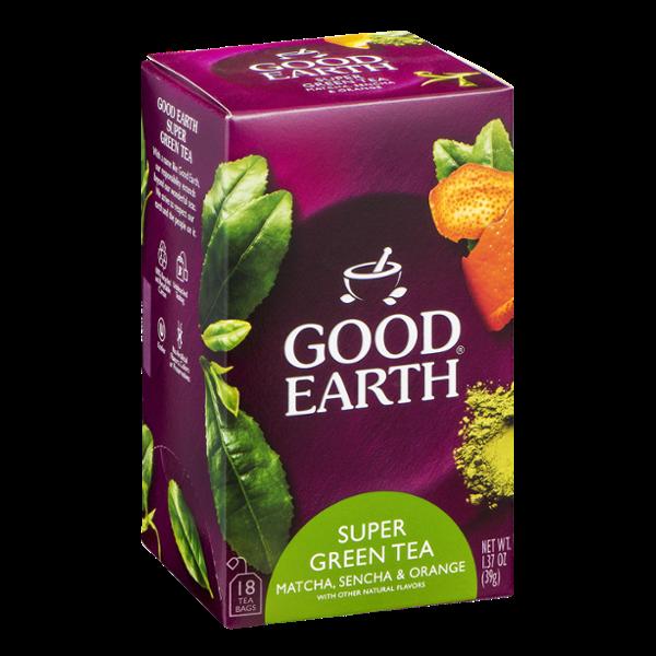 Good Earth Super Green Tea - 18 CT