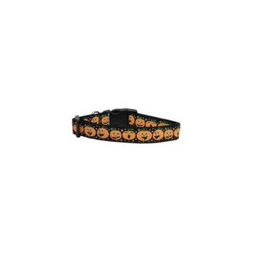 Ahi Pumpkins Nylon Ribbon Dog Collars Medium