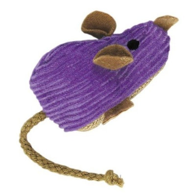 KONG Corduroy Mouse Refillable Catnip Toy (Colors Vary)