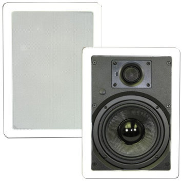 Theater Solutions TSS6W 6.5 In Wall Surround Sound HD Home Theater Rectangular Glass Fiber Speaker Pair