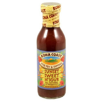 KONA COAST , Sauce Sunset Swt&Sour, 14 OZ (Pack of 6)