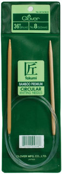 Clover Mfg Co Ltd Clover Bamboo Takumi Circular Knitting Needles 36