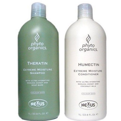 Nexxus Phyto Organics Set Theratin Shampoo & Humectin Conditioner 1L Each