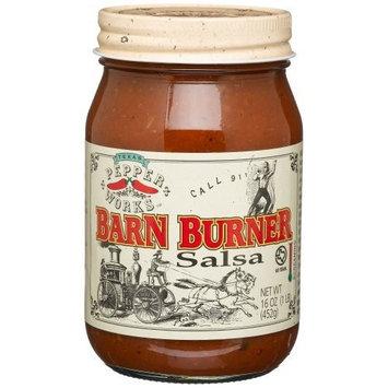 Texas Pepper Works Barn Burner Salsa, Call 911 Screaming Hot, 16-Ounce Jars (Pack of 3)
