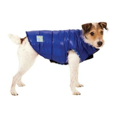 Fashion Pet Blue Reversible Puffy Dog Vest Small