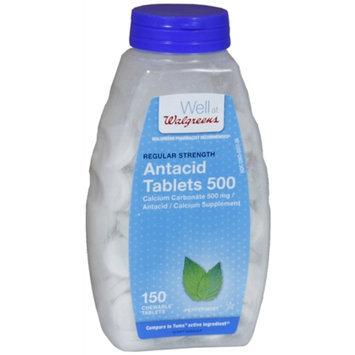 Walgreens Regular Strength Antacid/Calcium Supplement Chewable Tablets
