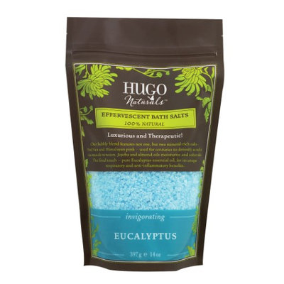 Hugo Naturals Effervescent Bath Salts Invigorating Eucalyptus 14 oz