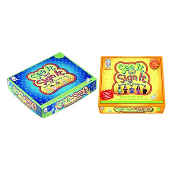 PlayAbility Toys See It and Sign It Games Bundle Level I and II