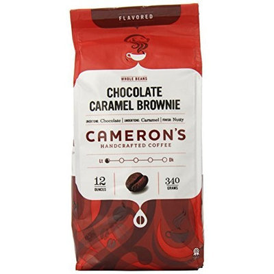 Camerons Cameron's Chocolate Caramel Brownie Whole Bean Coffee, 12-Ounce Bags (Pack of 3)